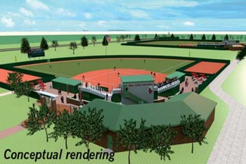 sports complex conceptual drawing feature