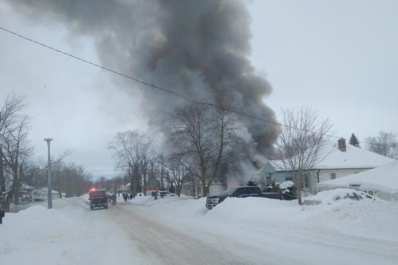 Elgin street house fire