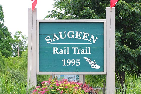 Saugeen Rail Trail Sign Full