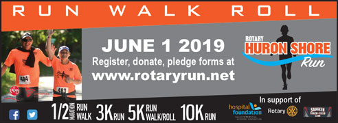 Rotary Huron Shores Run Events