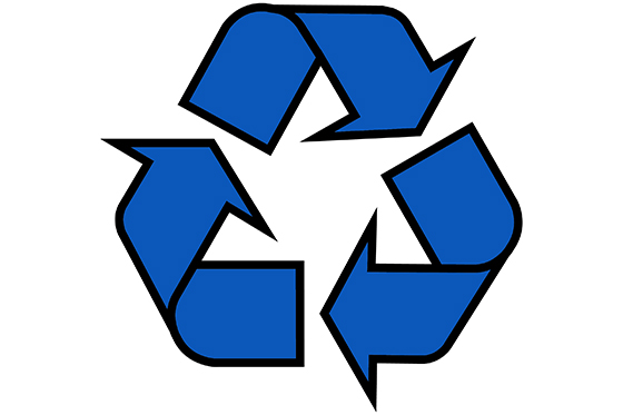 recycling symbol blue 560