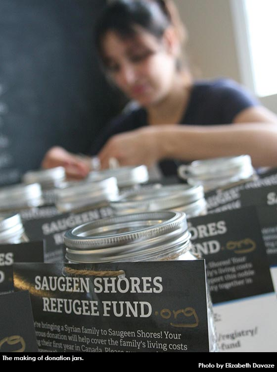 mariam makes donation jars