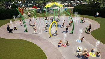 PE Splashpad image feature